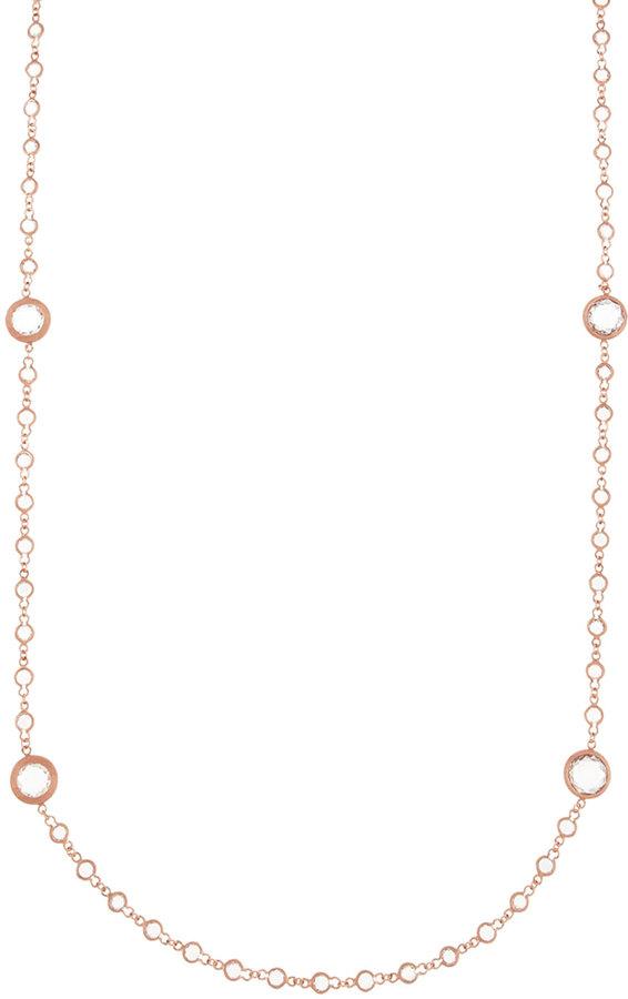 Freida Rothman Belargo Bezel Cubic Zirconia Necklace, Rose Golden