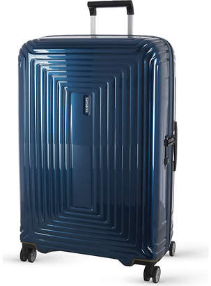 Samsonite Neopulse four-wheel spinner suitcase 81cm, Metallic blue