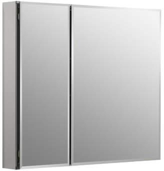 Kohler 30 x 26 Aluminum Two-Door Medicine Cabinet with Mirrored Doors, Beveled Edges