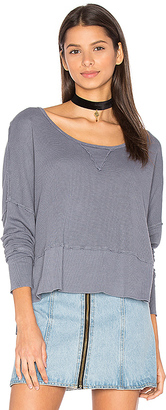 LA Made Lori Long Sleeve Tee in Blue $81 thestylecure.com