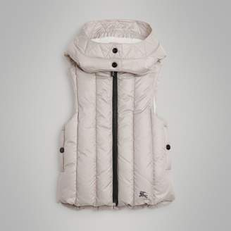 Burberry Detachable Hood Showerproof Down-filled Gilet , Size: 6Y