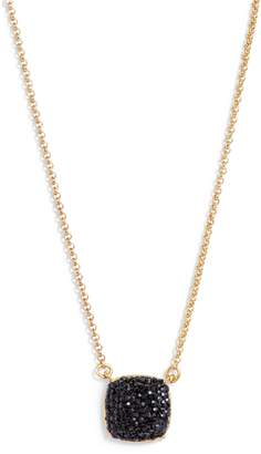 Kate Spade Small Square Pave Pendant Necklace