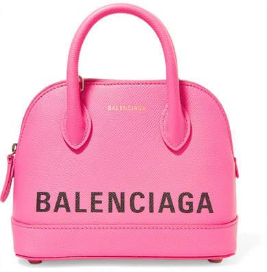Balenciaga - Ville Xxs Aj Printed Textured-leather Tote - Pink