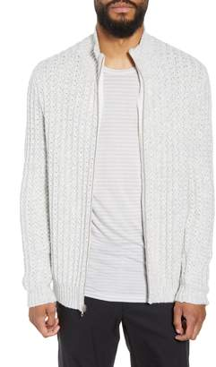 Calibrate Ribbed Front Zip Sweater