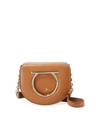 Salvatore Ferragamo Small Gancio Crossbody Bag, Light Brown