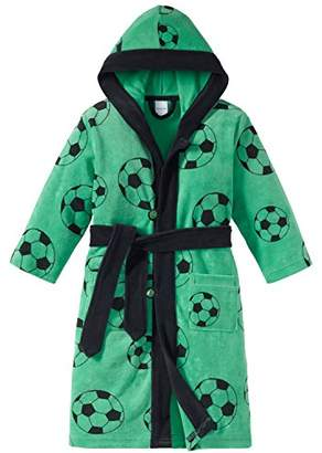 Schiesser Boy's Fußball Bademantel Dressing Gown