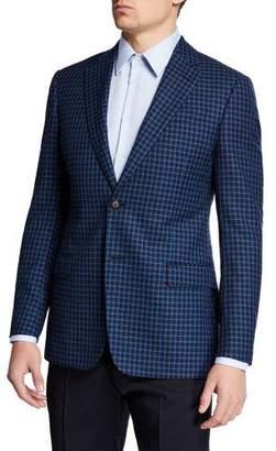 Emporio Armani Men's Box Wool Sport Coat