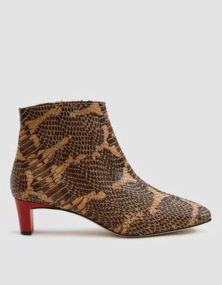 Atelier Atp Clusia Snakeskin Embossed Ankle Boot
