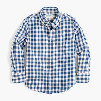 J.Crew Boys' flannel shirt in blue plaid