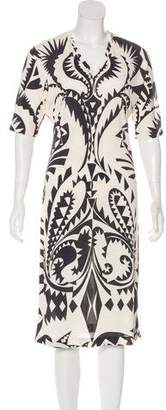 Etro Abstract Print Midi Dress
