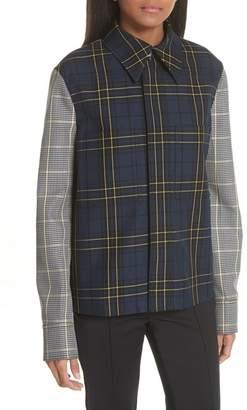 Joseph Coen Check Patchwork Jacket