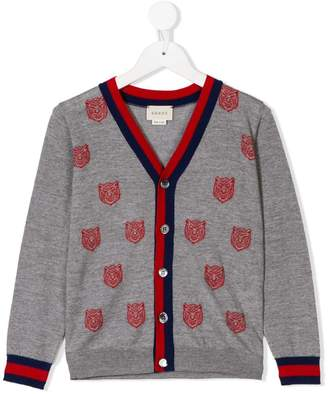 Gucci Kids Tiger cardigan with Web