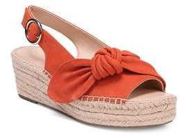 Franco Sarto Pirouette Suede Slingback Espadrille Wedges