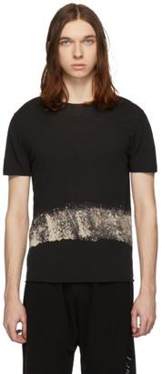 Isabel Benenato Black Rip Collar Dyed T-Shirt