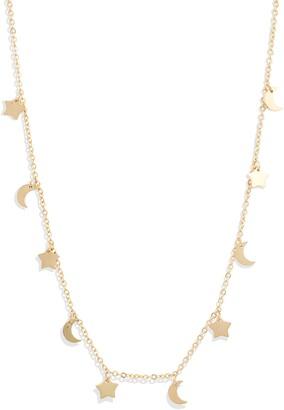 Knotty Sun, Moon & Stars Charm Necklace