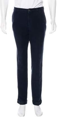 Brunello Cucinelli Velour Flat Front Pants
