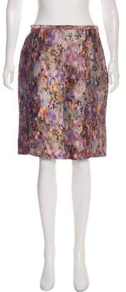 Nina Ricci Linen Watercolor Skirt