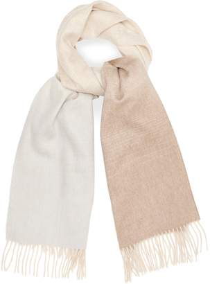 Reiss SASS LAMBSWOOL CASHMERE BLEND SCARF Blush