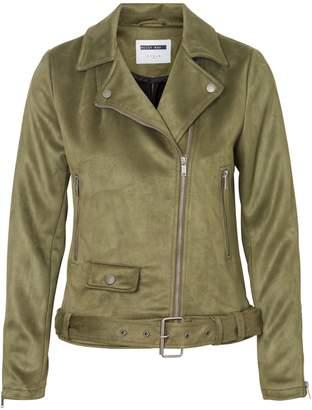 Noisy May Long Sleeve Belted Asymmetric Zip Jacket