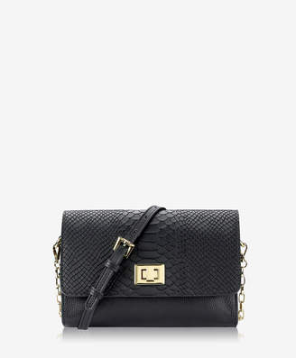 GiGi New York Catherine Crossbody, Black Embossed Python