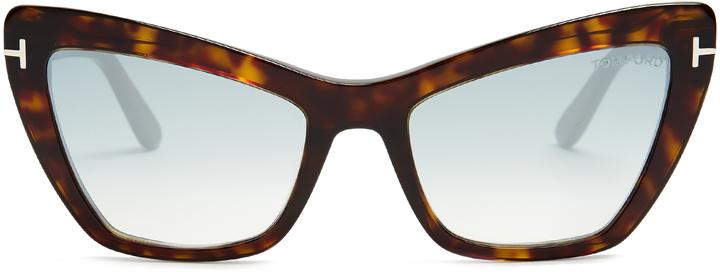 Tom FordTOM FORD EYEWEAR Valesca mirrored cat-eye sunglasses