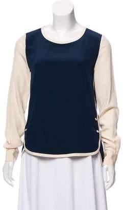 Diane von Furstenberg Two Tone Silk Blouse