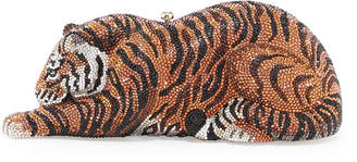 Judith Leiber Couture Tiger Crystal Minaudiere, Copper