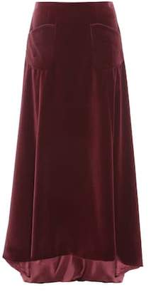 Carolina Herrera Exclusive to mytheresa.com – velvet skirt