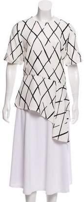 Balenciaga Asymmetrical Short Sleeve Top