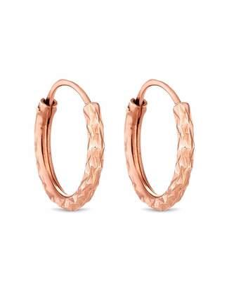 Jon Richard Simply Silver By Simply Silver Mini Rose Hoop Earrings