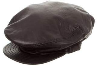 Gianni Versace Vintage Leather Military Hat
