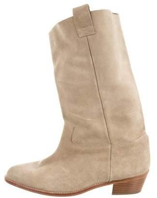 Les Prairies de Paris Pointed-Toe Mid-Calf Boots