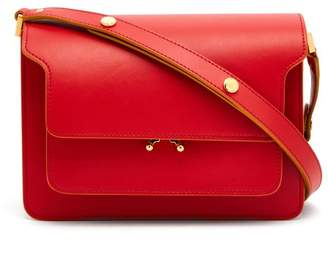 Marni - Trunk Medium Leather Shoulder Bag - Womens - Red Multi