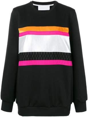 NO KA 'OI No Ka' Oi front stripe inserts sweatshirt
