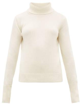 Joseph Slashed Cuff Cashmere Roll Neck Sweater - Womens - Cream