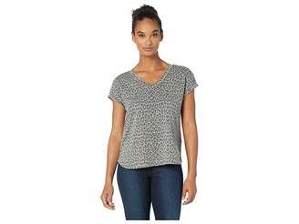 Bobeau B Collection by Printed French Terry V-Neck Tee