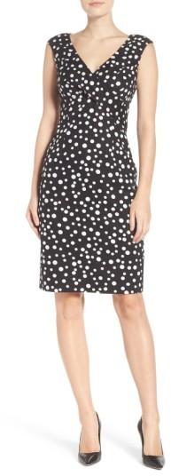 Women's Adrianna Papell Polka Dot Sheath Dress 2