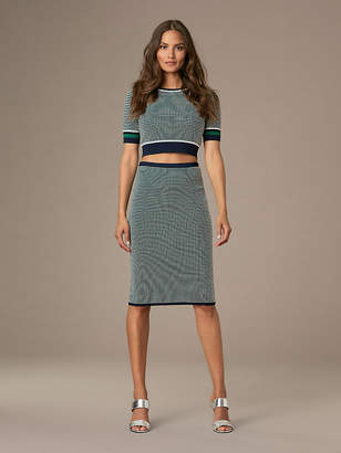 Diane von Furstenberg Fitted Jacquard Pencil Skirt