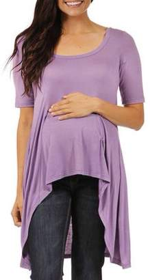 24/7 Comfort Apparel Women's Extra Long Maternity Tunic Top