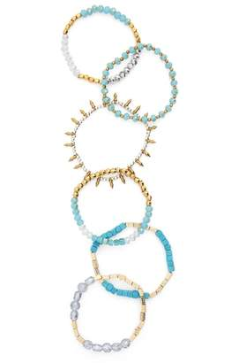 Panacea Set of 6 Assorted Stretch Bracelets