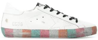 Golden Goose Rainbow Glitter Superstar Sneakers