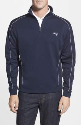 Cutter & Buck New England Patriots - Edge DryTec Moisture Wicking Half Zip Pullover