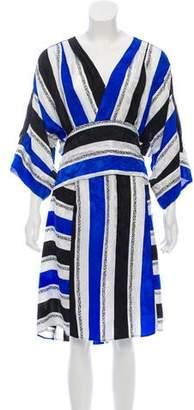 Warm SS1891B Sketch Silk Dress w/ Tags