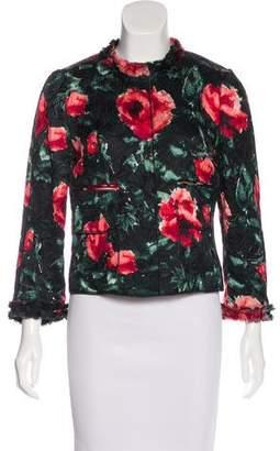 Dolce & Gabbana Floral Print Matelassé Blazer