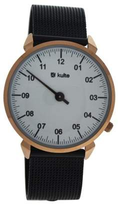 Kulte KU15-0017 3 Planets - Rose Gold/Black Stainless Steel Mesh Bracelet Watch
