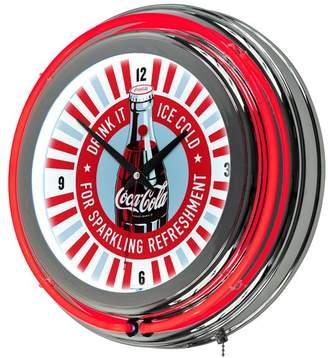 Trademark Gameroom Coke Chrome Double Rung Neon Clock