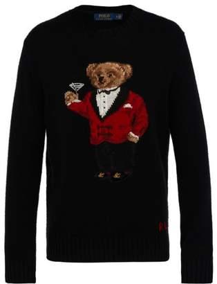 Polo Ralph Lauren Tuxedo Bear Wool Sweater - Mens - Black