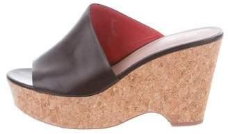 Diane von Furstenberg Leather Slip Sandals