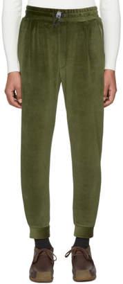 Sunnei Green Velour Jogging Pants