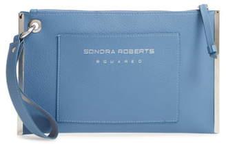 Sondra Roberts Metal Frame Faux Leather Wristlet